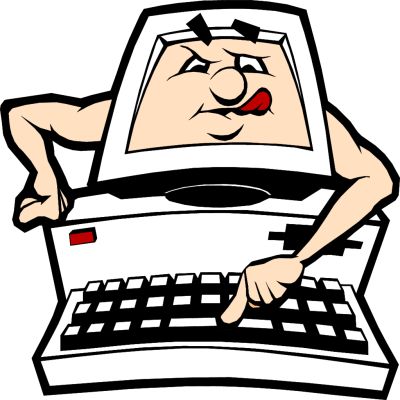 400x400 Cartoon Computer Keyboard Clipart