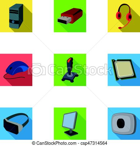 450x470 Computer Accessories. Headphones, Computer Parts, Clip Art