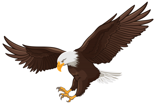 500x334 Eagle Png Clip Art Camping Clip Art, Eagle And Bird