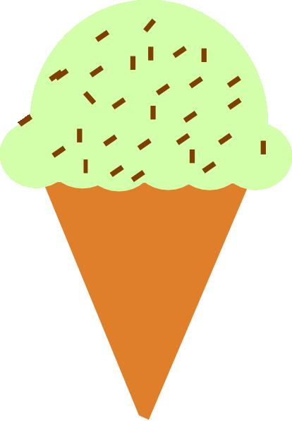 414x597 Free Ice Cream Cone Clipart Image