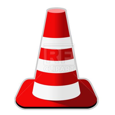 400x400 Traffic Cone Royalty Free Vector Clip Art Image