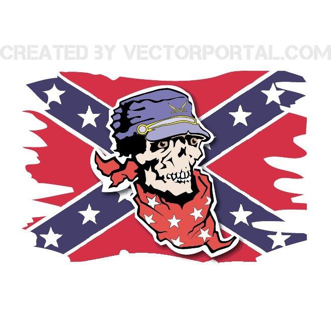 660x660 Confederate Flag Free Vector 123freevectors