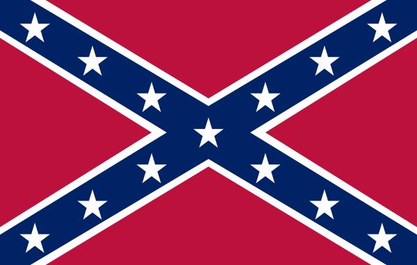 600x382 Confederate Navy Jack Clip Art