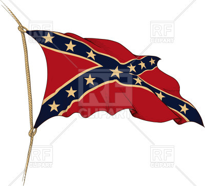 400x363 Old Flag Of The Confederate States Of America On Wind Royalty Free