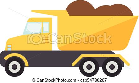 450x270 Construction Truck Icon, Flat Style. Construction Truck Clip