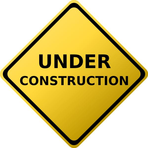 600x600 Construction Clipart Under Construction Sign Clip Art