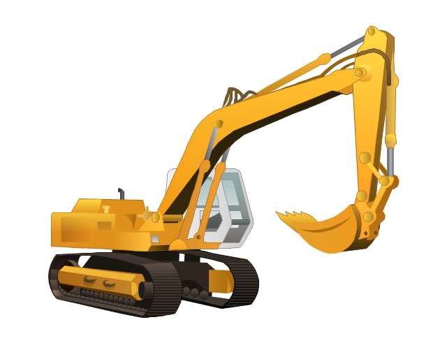 640x491 Excavator On Truck Clipart