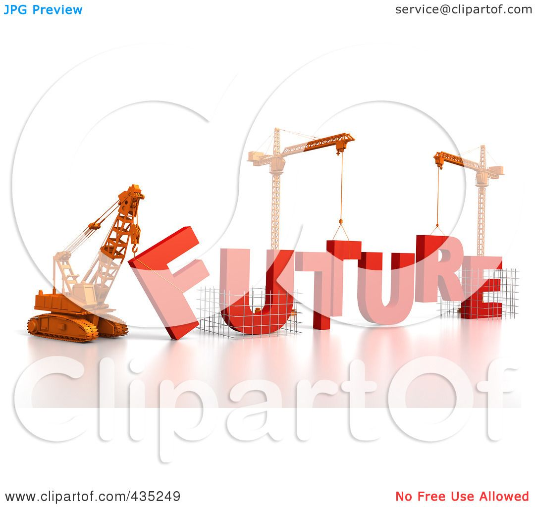 1080x1024 Royalty Free (Rf) Clipart Illustration Of A 3d Construction Cranes