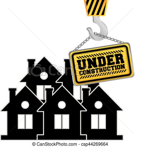 450x470 Under Construction Chain Sign Hanging Crane Vector Clip Art