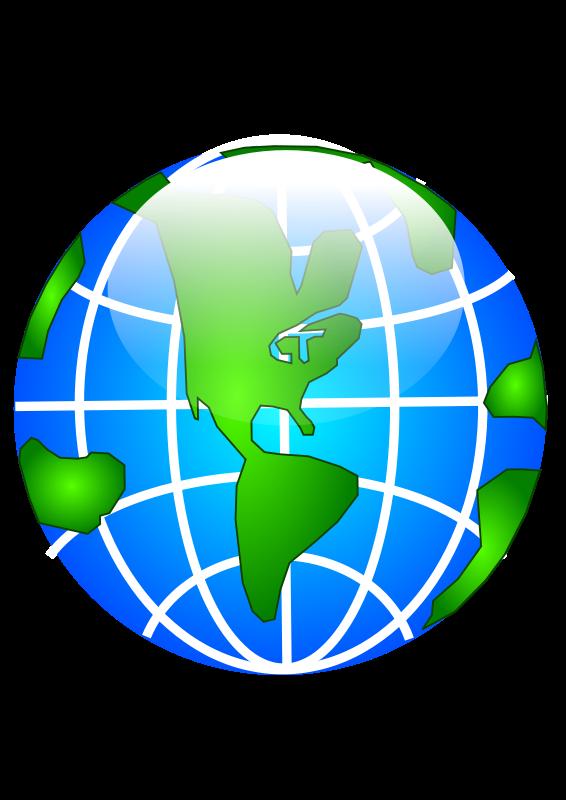 566x800 Free Clipart Glossy Globe Bdtiger2000