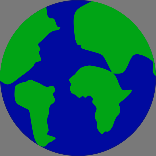 594x594 Jonadab Earth With Continents Separated Clip Art Free Vector 4vector