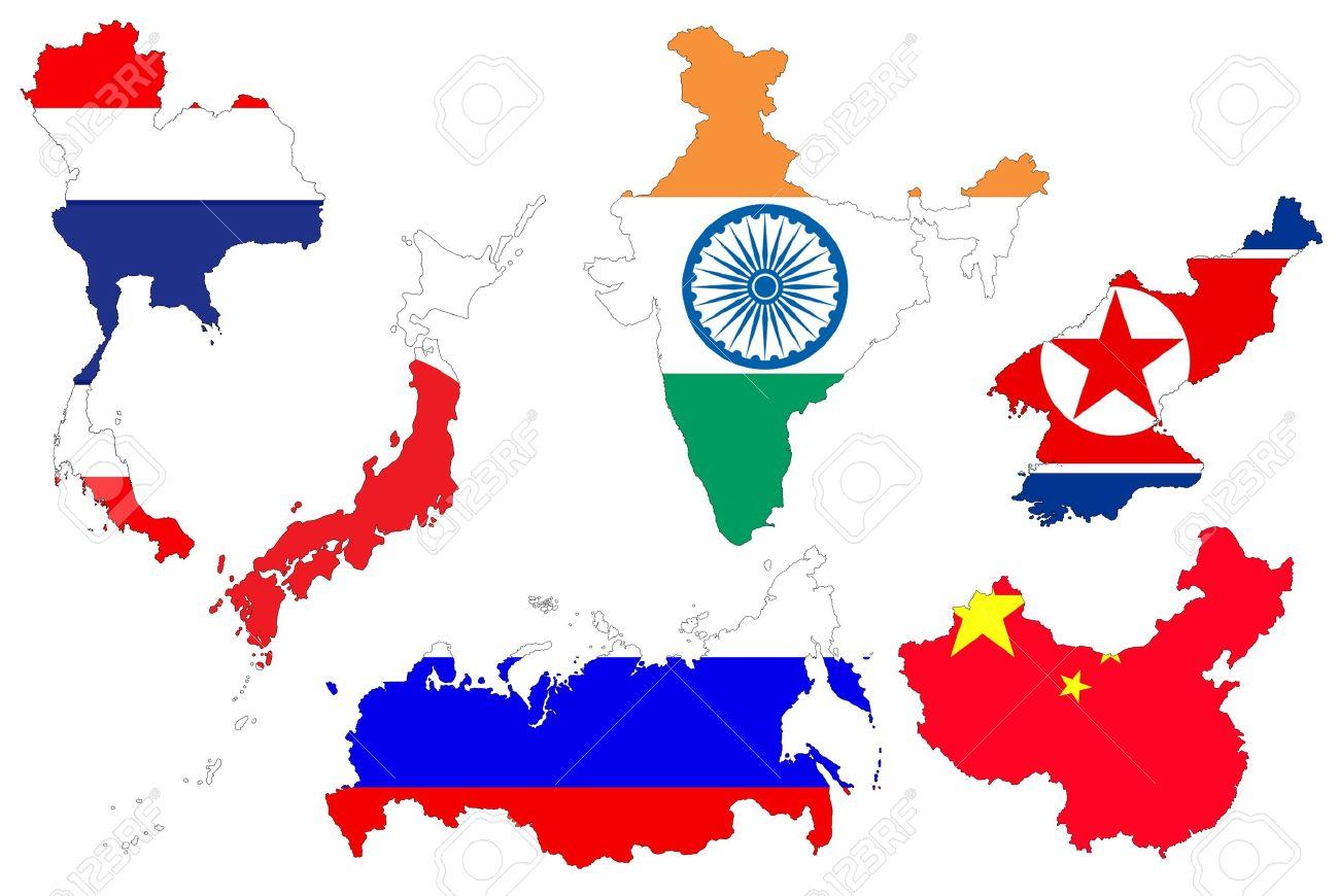 1300x870 Asians Clipart Continent