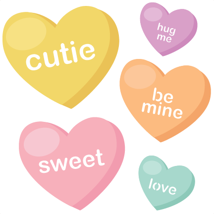 432x432 Candy Hearts Svg Cutting Files Valentine Svg Files Valentines Svg