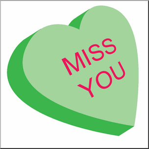 304x304 Clip Art Candy Heart Green Color I Abcteach
