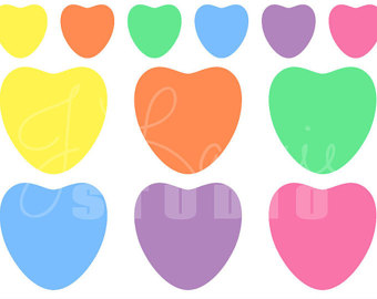 340x270 Digital Clipart Heart Letters Valentine Convo