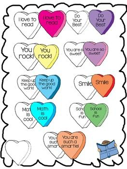 263x350 This Is A Set Of 9 Motivational Conversation Heart Clip Art. You