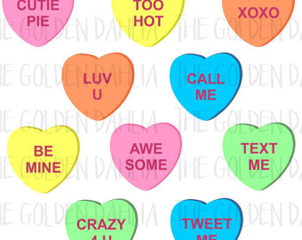 340x270 Valentines Heart Candy Clip Art 100 Colorful Graphics Valentine'S