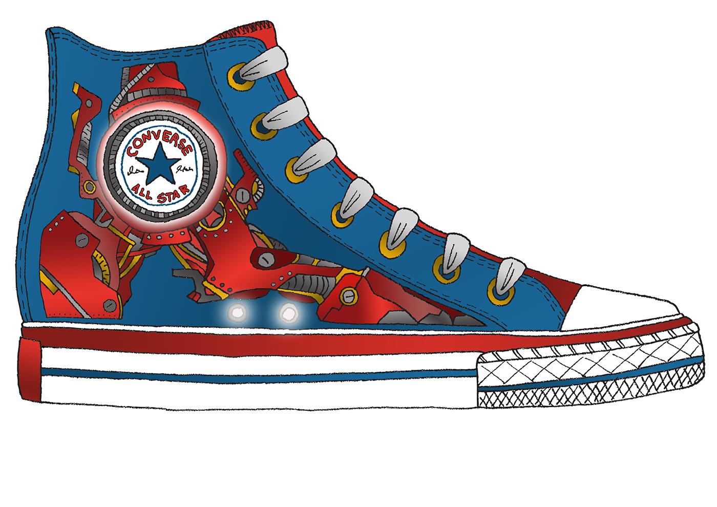 2ddc692ccd4 Converse Shoe Clipart at GetDrawings.com