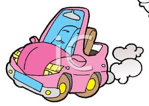 300x213 Cute Little Pink Convertible Car