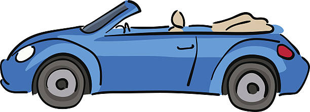 612x222 Collection Of Convertible Car Drawing High Quality, Free