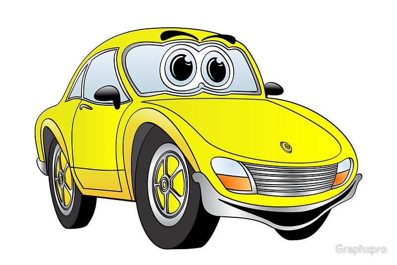 800x534 Cartoon Convertible Car Group