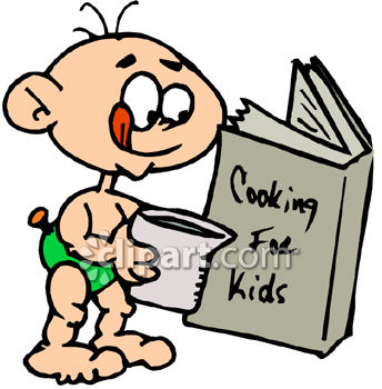 344x350 Baby Boy Reading Cookbook For Kids