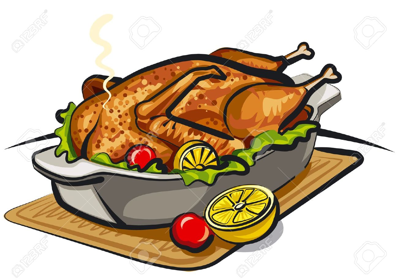 Cooked chicken clipart at free for - Poulet dessin ...