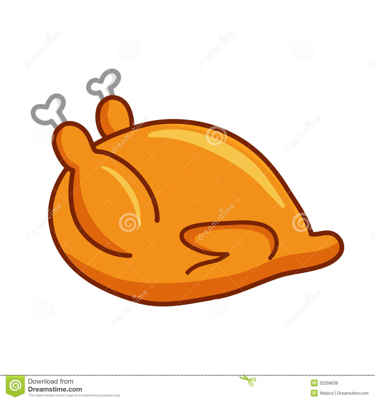 1300x1390 Cartoon Cooked Chicken Clipart