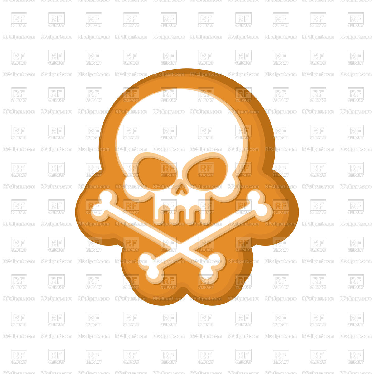 1200x1200 Halloween Cookie Skull Royalty Free Vector Clip Art Image
