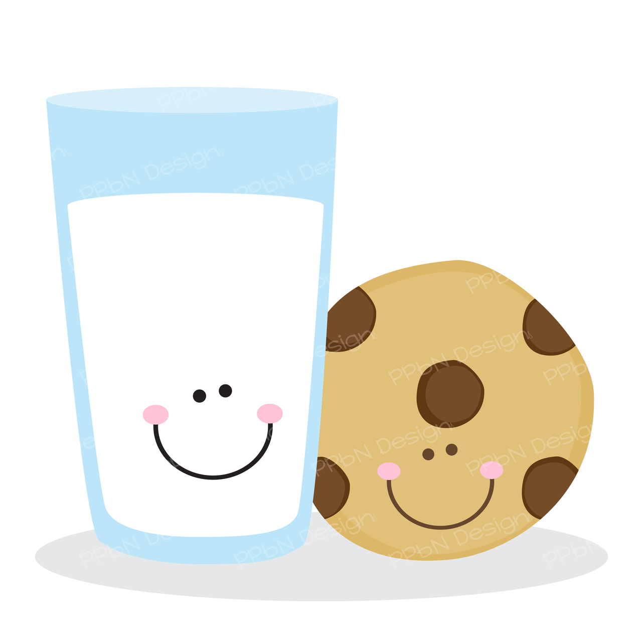 1280x1280 Milk And Cookies Clipart