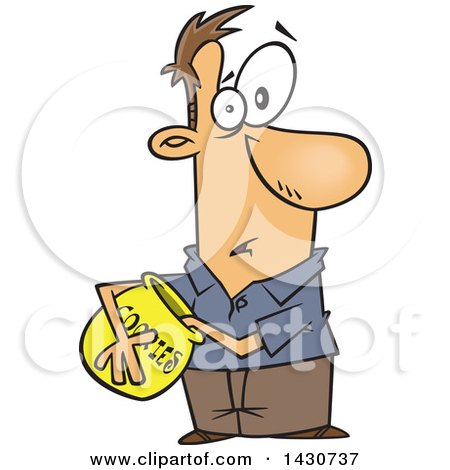 450x470 Clipart Of A Cartoon White Man Caught With His Hand In The Cookie