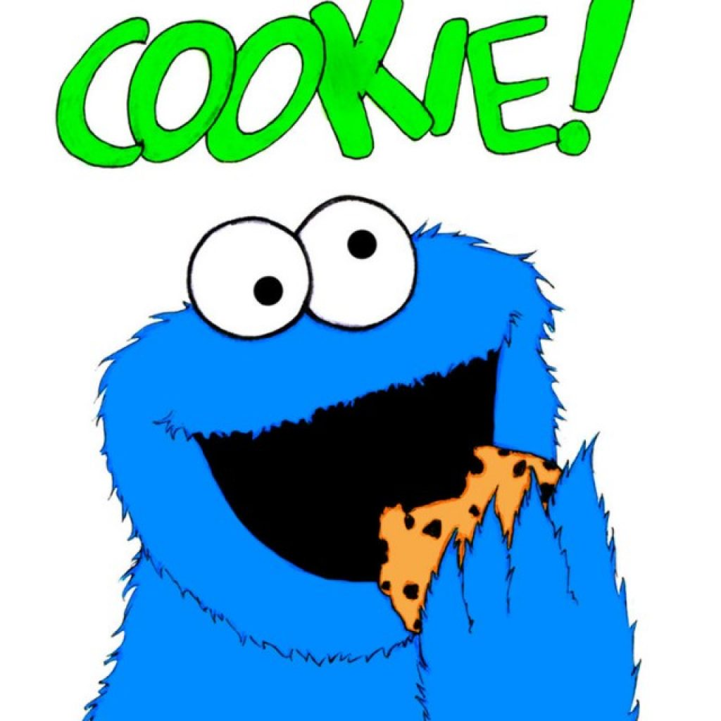 1024x1024 Cookie Monster Clipart Volleyball Clipart