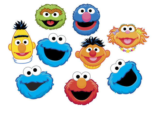 640x480 Sesame Street Characters Free Clipart
