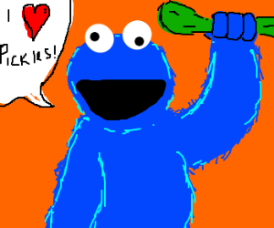 300x250 Cookie Monster Clipart