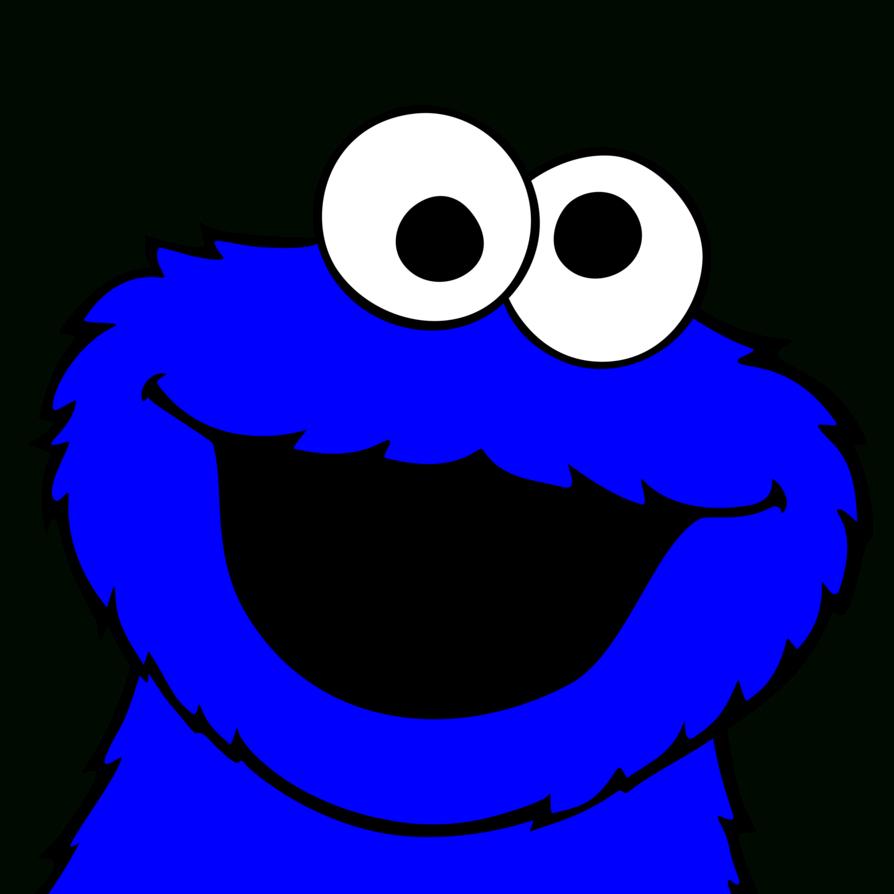894x894 Cool Cookie Monster Clipart Clip Art Sesame Street Black