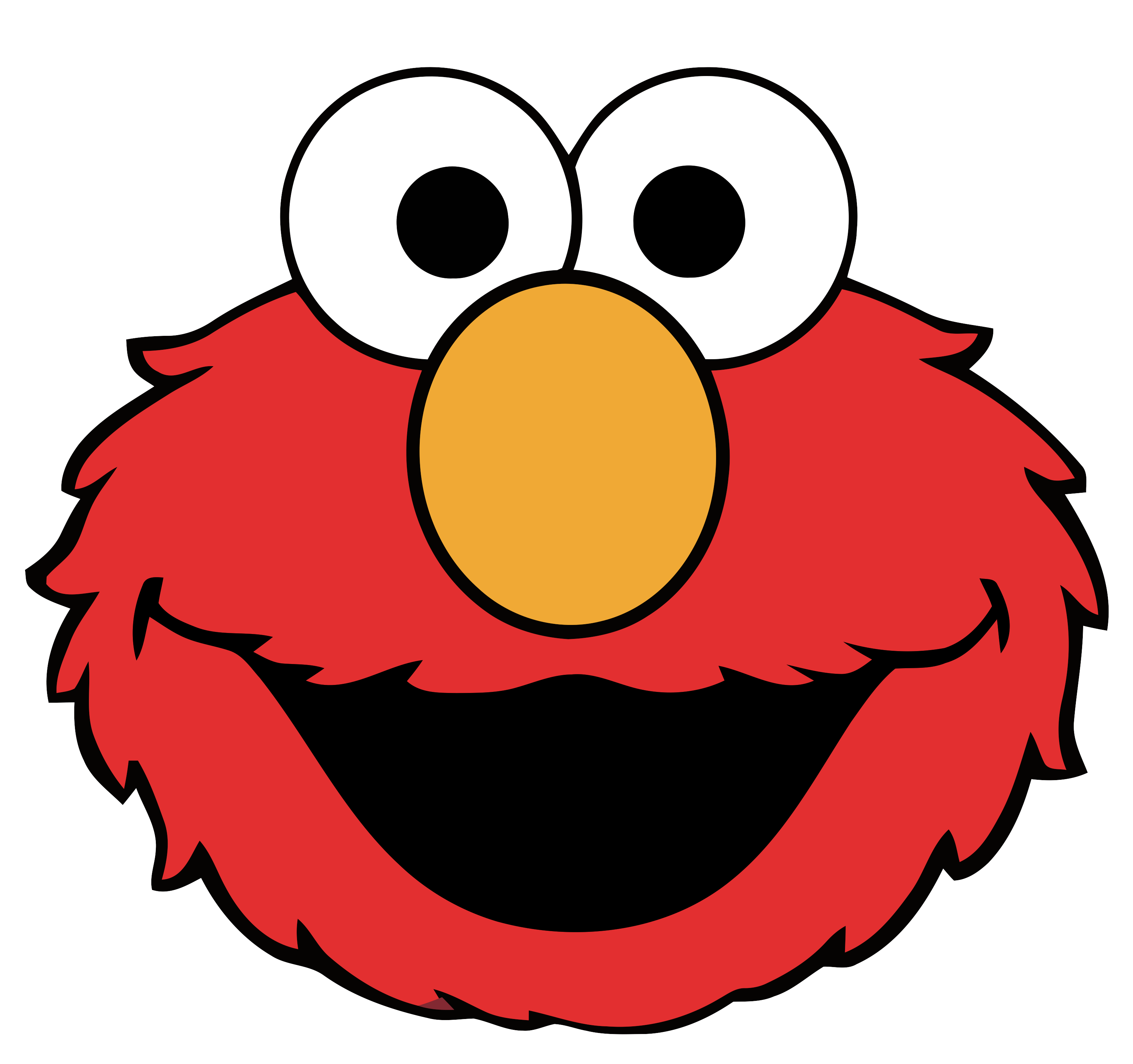 3250x3051 Elmo Ernie Cookie Monster Big Bird Clip Art