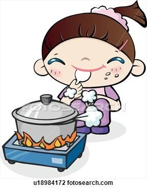 287x370 Woman Cooking Clipart Clipart Panda