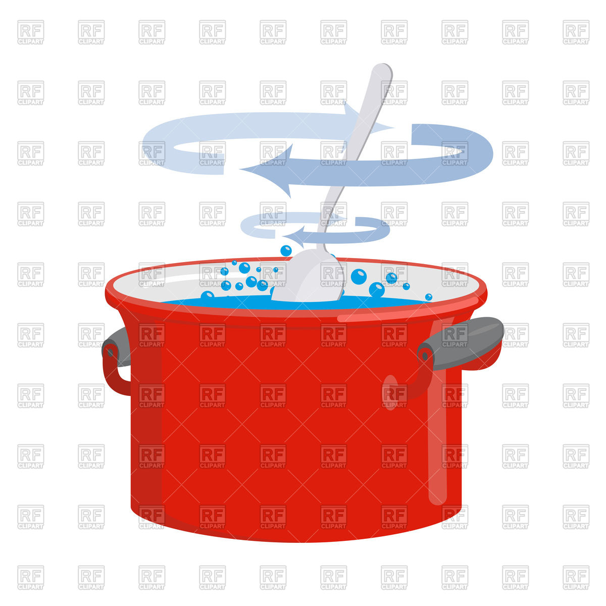 1200x1200 Red Pan With Water. Kitchen Utensils For Cooking. Royalty Free