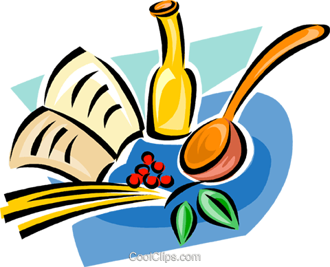 480x388 Cooking Supplies Royalty Free Vector Clip Art Illustration