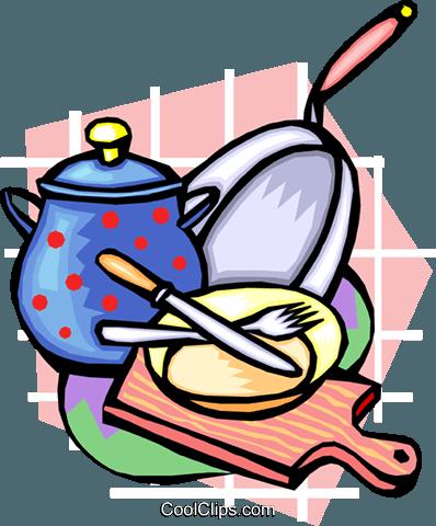 398x480 Kitchen Tools Royalty Free Vector Clip Art Illustration Hous1183