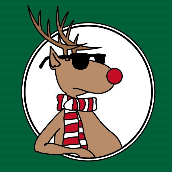 600x600 Cool Rudolph Modern Contemporary Christmas Illustration