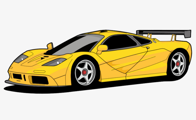 650x400 Cartoon Cool Car, Cartoon, Yellow, Cool Png Image And Clipart