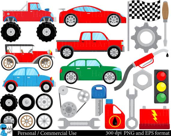 570x454 Cool Cars Set Clipart