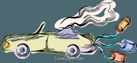 480x221 Decorated Wedding Car Royalty Free Vector Clip Art Illustration