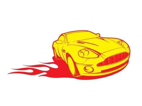 600x450 Cool Car Vector Fast Car Clipart Adobe Illustrator