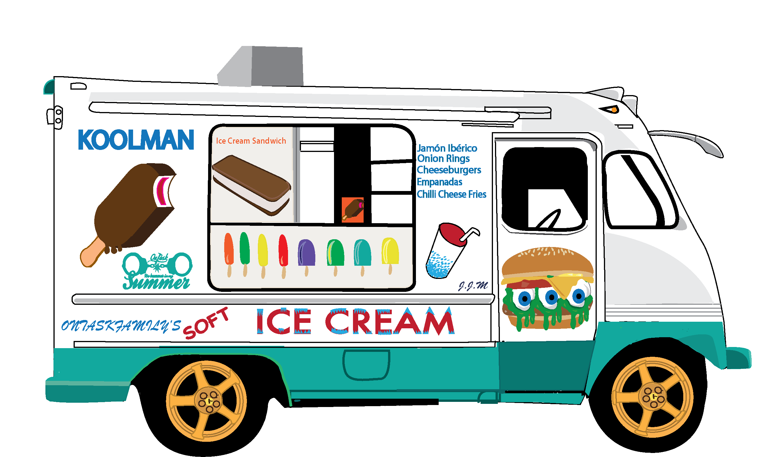 2644x1591 Best Ice Cream Truck Clip Art