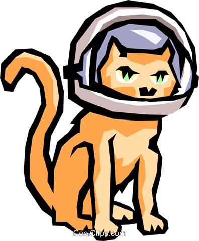 396x480 Cat With Space Helmet Royalty Free Vector Clip Art Illustration