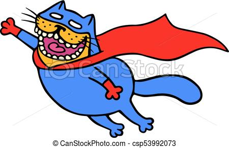 450x291 Cute Super Cat In A Raincoat Is Flying To Save The World