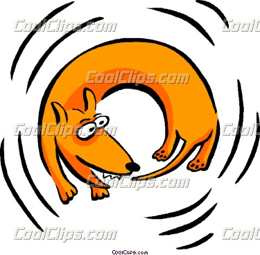 375x368 Cat Chasing Tail Clipart