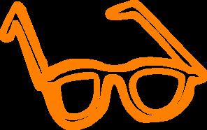 296x186 Cool Orange Glasses Clip Art